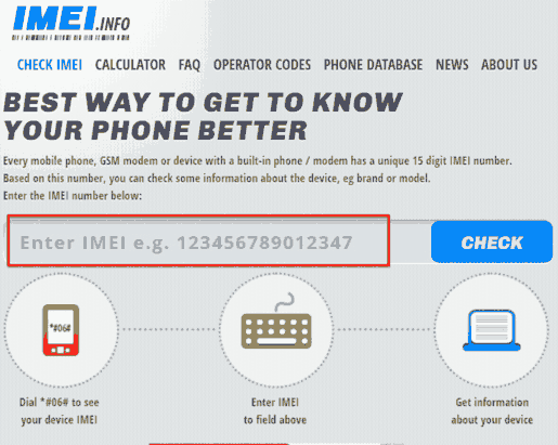 Best 5 websites to check IMEI online